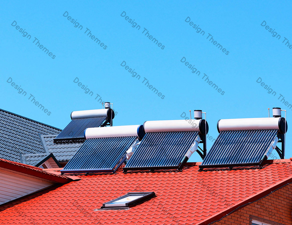 A PANORAMIC VIEW OF SOLAR HEATERS